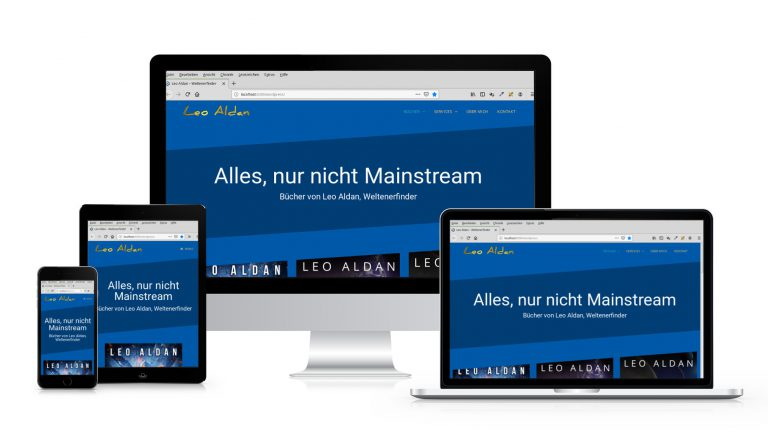Webseiten von Leo Aldan Webseite leoaldan